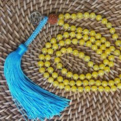 Japamala 108 contas - Jade amarelo