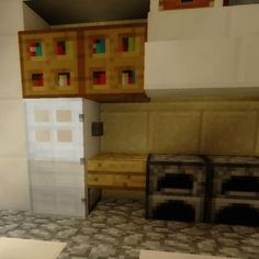 Minecraft Fridge! Check out our website to find out how to make it. #Minecraftfurniture