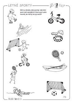 Pracovní sešit pro děti mladšího předškolního věku na celý školní rok English Vocabulary Words, Summer Activities For Kids, Coloring For Kids, Free Time, Worksheets, Culture, Teaching, Index Cards, Summer