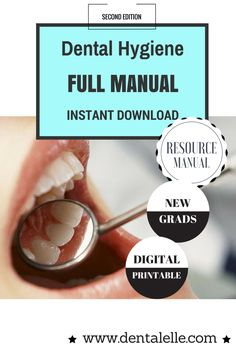 Dental Hygiene FULL Resource Manual is now available! The second edition. 105 slides of everything you need to know to practice dental hygiene! Perfect for new grads, if you want to study for the board exam, and/or you work in multiple offices and want a refresher. A full radiography refresher course is also included with images throughout. Instant digital download. Click here for more information..provided by Dentalelle Tutoring Dental Hygiene Student, Dental Hygienist, Board Exam, Online Tutoring, Dentistry, Offices, Teeth, Manual, Motivational Quotes