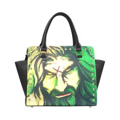 Rob Zombie Rivet Shoulder Handbag (Model 1645)