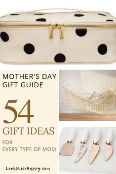 Mother's Gift Guide: 54 Gift Ideas for Every Type of Mom - Are you ready to celebrate your Mom? We are! These gifts are perfect for every type of mama out there. Pin now, but email this link to your spouse first!   #mothersday #mom