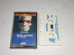 BRIAN JOHNSON Strange Man CASSETTE Tape