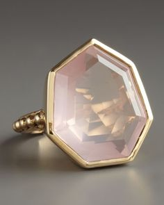 Faceted Rose Quartz Ring - Neiman Marcus - unique jewelry