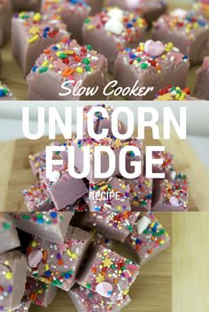 SLOW COOKER UNICORN FUDGE RECIPE