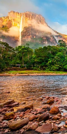 The tallest waterfall in the world is Angel Falls in Venezuela at 3230 feet #Southamerica