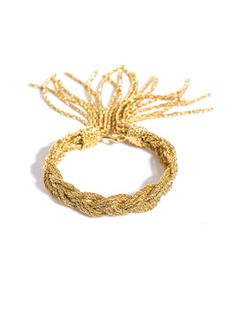 Miki dora plaited rope gold bracelet