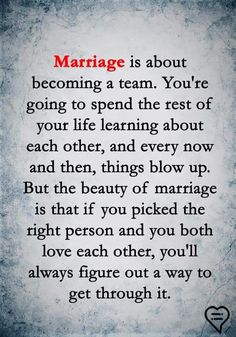 Why wait until marriage? Why not become a team from the start? Marriage shouldn't change the love shared. Through thick and thin from the start. Marriage Goals, Marriage Relationship, Love And Marriage, Relationships, Marriage Advice Quotes, Happy Marriage, Strong Marriage Quotes, Quotes To Live By, Me Quotes