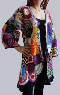 Free form crochet - this is what I'd like to recreate for my Hundertwasser piece! - Buscar con Google