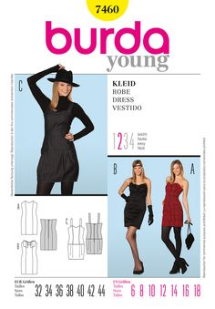 Find Burda Style, Dress & Tunic at Simplicity, plus many more unique crafts & crafts projects, supplies, tools & more. Burda Sewing Patterns, Dress Patterns, Style Patterns, Pretty Patterns, Simplicity Patterns, Diy Clothing, Sewing Clothes, Bobe, Miss Dress