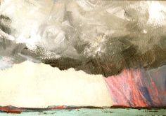 My stormy sea, acrylic, 2013 Maui