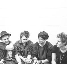 Ash and his hat. Mikey just being Michael. Cal and his amazing smile. Luke and his lip bite.