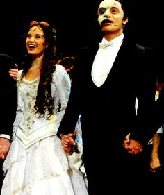 At the end of bows for the 25 anniversary of phantom of the opera, those two looked like best friends