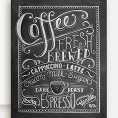 チョークアートのグリーティングカード 「Coffee Lover's 」 アメリカ直輸入 - きれいなアクセサリー可愛いバッグをフランスやヨーロッパから直輸入 インポートアクセサリーのセレクトショップ KOMACHI