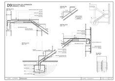 Detalles constructivos CAD: Escalera de Hormigón armado de dos tramos Conceptual Model Architecture, Architecture Details, Structural Drawing, Circle House, Building Foundation, Duplex House Plans, Stair Detail, Concrete Stairs, Concrete Structure