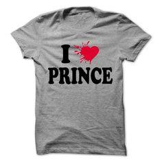 Awesome Tee I love PRINCE - 99 Cool Name Shirt ! Shirts & Tees