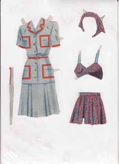 Danish Woman paper doll 3.....SET-60