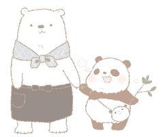 Shirokuma-kun and Panda-kun of Shirokuma Cafe. So cute!!!! Artist:りく