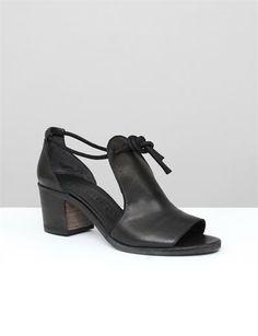 Creatures of Comfort x LD Tuttle Freda Stacked Heel - Black