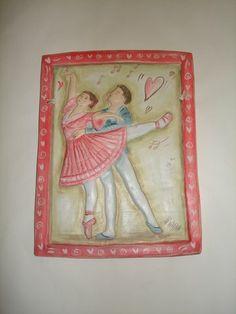 "Ceramic Plate ""Ballerina"""