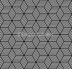 Seamless Geometric Patterns In Op Art Design. Geometric Patterns, Line Patterns, Graphic Patterns, Geometric Designs, Textures Patterns, Geometric Shapes, Doodle Patterns, Organic Patterns, Op Art