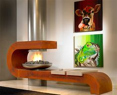 Your home will be comfortable in terms of temperature, but its style will be too hot to handle with these modern contemporary fireplaces by Modus Design. This sophisticated, suspended...