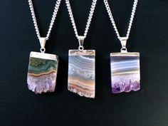 Amethyst Druzy Crystal Necklace