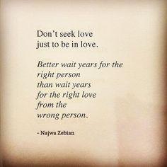 Najwa Zebian From #TheNectarofPain ❤ #truelove #letgo #dontsettle'