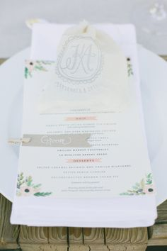 adorable menus by http://riflepaperco.com/ Photography by onelove photography / onelove-photo.com, Planning by Kelsey West Designs / kelseywestdesigns@gmail.com