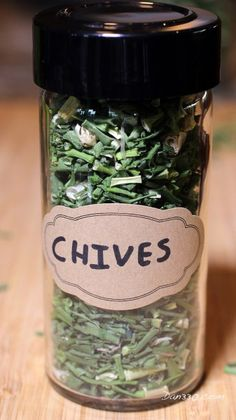 How to preserve garden herbs. Here's how to preserve chives.