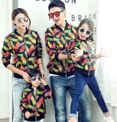 S-3XL Leather Coats Family Matching Mother Daughter Father Son Clothes Family Style Parent-Child Set Family Clothing ML6