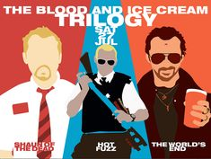 Empire Podcast - Edgar Wright And Simon Pegg Interview - The Three Flavours Cornetto Trilogy Special Simon Pegg, Nick Frost, Five Friends, British Humor, Movie T Shirts, Great Films, End Of The World, Screenwriting, Movies And Tv Shows