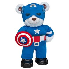 Captain America Build-A-Bear -okay I have refrained from going to this place but I can't anymore!!! MUST HAVE!!!