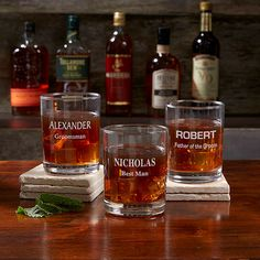 Buy Personalized Groomsmen Whiskey Glasses you can customize with names & groomsmen titles. Groomsmen Gifts Unique, Wedding Gifts For Groomsmen, Groomsmen Proposal, Gifts For Wedding Party, Groomsman Gifts, Wedding Stuff, Unique Gifts, Dream Wedding, Wedding Ideas