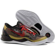 http://www.anike4u.com/ Nike Zoom Kobe 8 Red Gold Black White