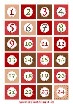 Free printable Christmas advent calendar numbers and borders - ausdruckbare Adventszahlen - freebie   MeinLilaPark – digital freebies