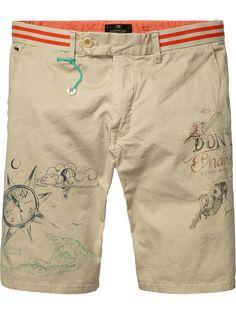 Shorts chinos con cintura de rayas | Shorts | Ropa para hombre en Scotch & Soda