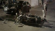 #News  Acidente de trânsito no bairro São Francisco em Muriaé deixa homem ferido