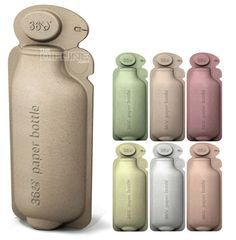 environmentally friendly paper bottles, an alternative to plastic water bottles, from 360
