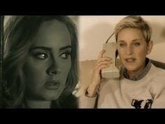 "Ellen Degeneres Spoofs Adele's ""Hello"" Video! - YouTube"