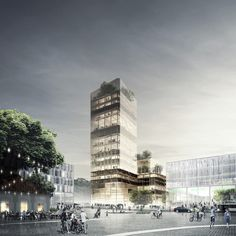 Galeria de Arranha-céu de madeira de C.F. Møller e DinnellJohansson vence competição internacional - 13