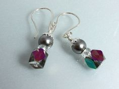 Swarovski Pearl and Crystal Earrings by NancysCrystalFantasi, $20.00