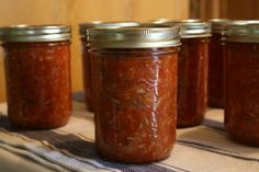 Zucchini Salsa, Canned - see review of sugar, nutmeg, and jalapenos - don't peel zukes