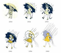 Stories Behind 10 Famous Food Logos: The Morton Umbrella Girl - Neatorama Vintage Advertisements, Vintage Ads, Famous Advertisements, Vintage Items, Vintage Graphic, Vintage Stuff, Vintage Paper, Vintage Clothing, Salt Logo