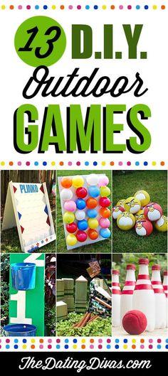 13 DIY Outdoor Games