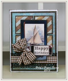 Masculine Birthday Greeting Card Handmade by PollysPaper on Etsy, $6.00