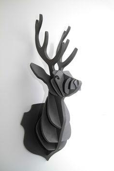 trophée de CERF en bois