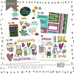Friendsgiving | Bible Journaling Printable Ephemera by Illustrated Faith Faith Bible, Illustrated Faith, Scripture Art, My Father, Ephemera, Unity, Pray, Bullet Journal, My Love