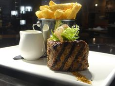 Our signature dish – the South West fiery fillet 220gm    Adelphi's special blend of fiery spices on 220gm beef fillet with scrummy Adelphi chips!