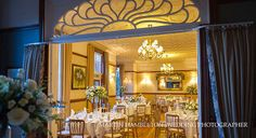The dining room at Nunsmere Hall, Cheshire wedding venue Wedding Dj, Luxury Wedding, Wedding Venues, English Manor Houses, Manchester, Dining Room, Wedding Photography, Ceiling Lights, Bridal